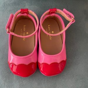 Kate Spade red & pink shoes size 3-6 months